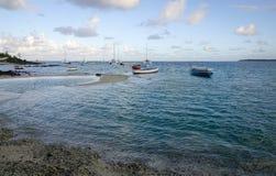 Seascape av Mauritius Island Royaltyfri Foto