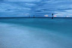 Seascape azul Foto de Stock Royalty Free