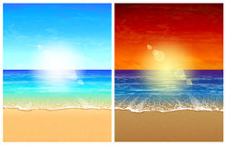 Seascape backgrounds Royalty Free Stock Images