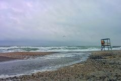 Seascape in bad weather Royalty Free Stock Photo