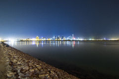 Seascape of Bahrain Night Time Royalty Free Stock Image