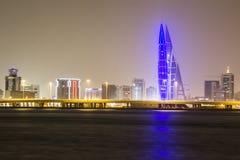 Seascape of Bahrain Night Time Stock Image
