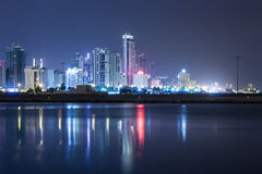 Seascape of Bahrain Night Time Royalty Free Stock Photography