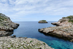 Seascape of Balearic islands, Spain. Seascape of Cabrera island national park stock images