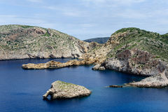 Seascape of Balearic islands, Spain. Seascape of national park at Cabrera island, Spain royalty free stock image