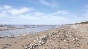 Seascape, Baltic Sea, Spring stock video