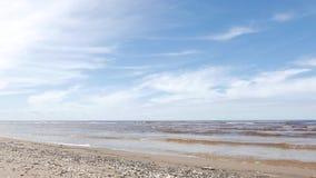 Seascape, Baltic Sea, Spring stock video footage