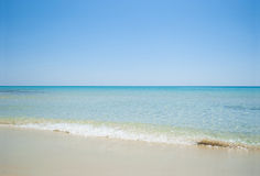 Seascape from beach. In Cesme Turkey Stock Image