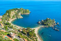 Isola Bella island. Taormina, Sicily, Italy stock photos