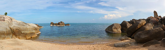 Seascape with  beach on Samui island Stock Photo