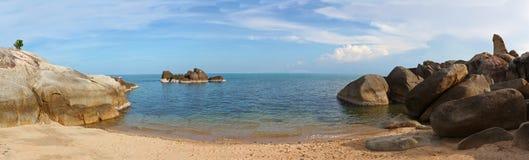 Seascape with  beach on Samui island Stock Photo