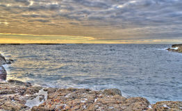 Seascape with beautiful colors Royalty Free Stock Photos