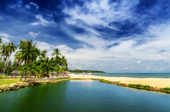 Beautiful tropical landscape. Samui Island, Thaila Royalty Free Stock Photos