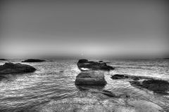 Seascape. Beautiful waterscape in Rezovo, Bulgaria Royalty Free Stock Images