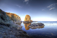 Seascape. Beautiful waterscape in Rezovo, Bulgaria Stock Photography