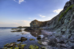 Seascape. Beautiful waterscape in Rezovo, Bulgaria Royalty Free Stock Photo