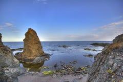 Seascape. Beautiful waterscape in Rezovo, Bulgaria Royalty Free Stock Photos