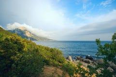 Seascape on the Black sea Stock Photo