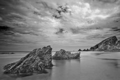 Seascape in black and white Royalty Free Stock Images