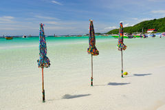 Seascape in blue sky day at Koh Larn, Pattaya Stock Photos