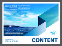 Seascape and blue sky presentation layout design template background for tourism travel business.  illustration Royalty Free Stock Image