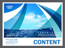 Seascape and blue sky presentation layout design template background for tourism travel business.  illustration Stock Image