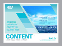Seascape and blue sky presentation layout design template background for tourism travel business.  illustration Royalty Free Stock Images
