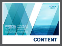 Seascape and blue sky presentation layout design template background for tourism travel business.  illustration Stock Images