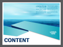 Seascape and blue sky presentation layout design template background for tourism travel business.  illustration Stock Photo