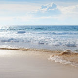 Seascape and blue sky Royalty Free Stock Photo