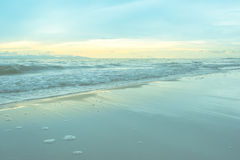 Seascape and blue sky at twilight time Royalty Free Stock Image