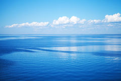 Seascape with blue water and blue sky Royalty Free Stock Photography
