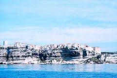 Seascape Bonifacio в Corse, Франции Стоковое фото RF