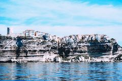 Seascape Bonifacio, Corsica, Francja zdjęcia stock