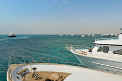 Seascape bonito com barcos Imagem de Stock