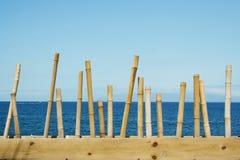 Seascape bonito com oceano e o céu azul Imagem de Stock Royalty Free