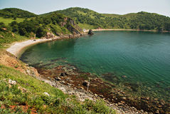 Seascape bonito, console de Putyatin, Primo Imagens de Stock Royalty Free