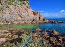 Seascape bonito, costa do mar de japão, fundo do mar Imagens de Stock Royalty Free