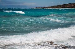Seascape bonito do verão em Grécia Imagem de Stock Royalty Free