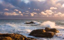 seascape brittany Франции Стоковые Фотографии RF