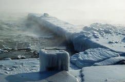 seascape burzy zima Obraz Royalty Free