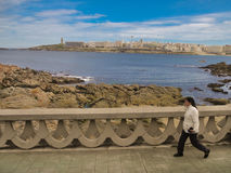 Seascape cênico no La Coruna, Galiza, Espanha Fotografia de Stock Royalty Free