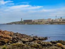 Seascape cênico no La Coruna, Galiza, Espanha Imagem de Stock Royalty Free