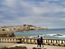 Seascape cênico no La Coruna, Galiza, Espanha Foto de Stock Royalty Free