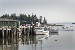 Seascape - cabeça das corujas, Maine Fotos de Stock