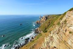 Seascape Cabo da Roca, Sintra, Portugalia Fotografia Stock