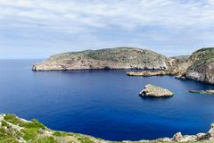 Seascape of Cabrera island. Seascape of Balearic islands, Spain stock photos