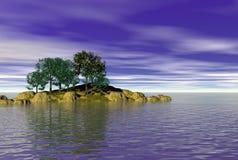 Seascape calmo da água Imagens de Stock Royalty Free