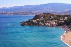 Seascape Caminia, Калабрией, Италией Стоковое фото RF