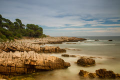 Seascape of Cap Antibes Royalty Free Stock Image